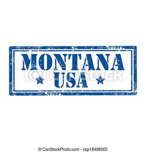 Montana-stamp - csp18498063
