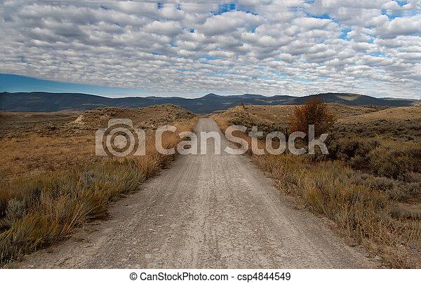 montana, unpaved, camino - csp4844549