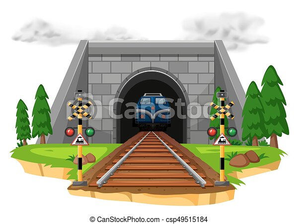 montando, ferrovia, trem - csp49515184