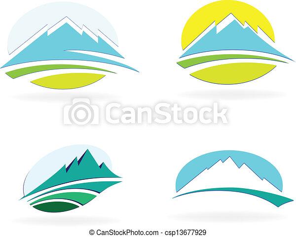 montanha, ícone - csp13677929