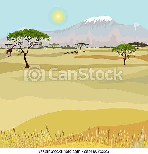 montanha, africano, paisagem, idealista - csp16025326