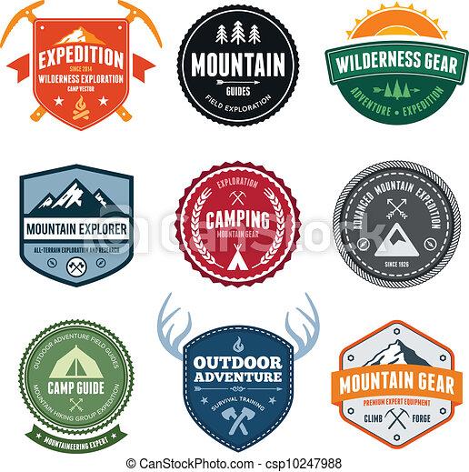 montanha, emblemas - csp10247988