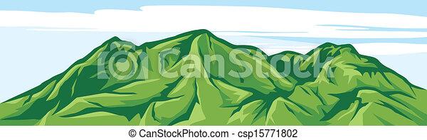 montanha, ilustração, paisagem - csp15771802