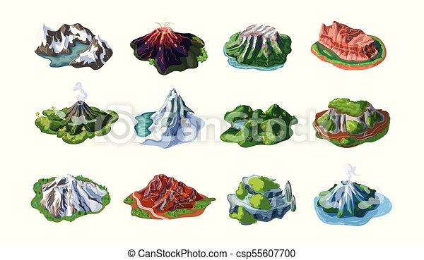 montanha, jogo, paisagens, natureza - csp55607700