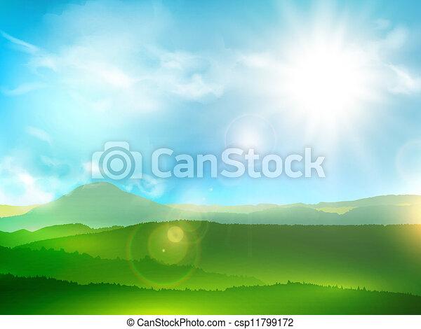 montanha, paisagem abstrata - csp11799172