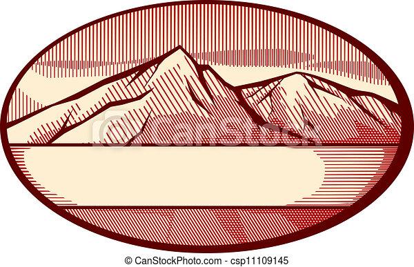 montanha, vetorial, ilustração - csp11109145