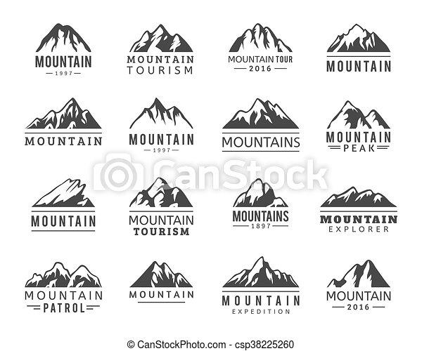 montanha, vetorial, jogo, ícones - csp38225260