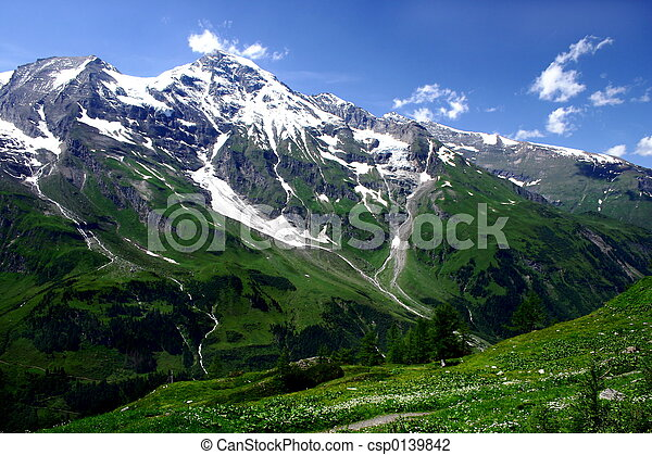 montanhas, áustria - csp0139842