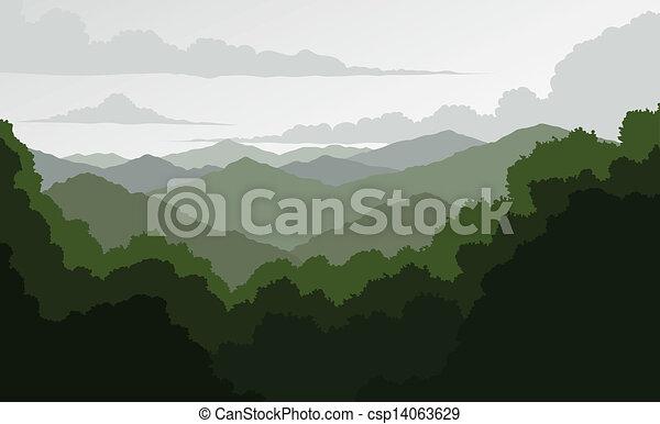montanhas azuis, cume - csp14063629