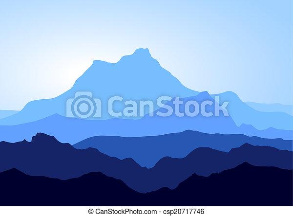 montanhas azuis - csp20717746