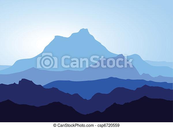 montanhas azuis - csp6720559