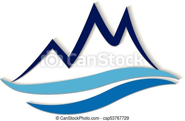 montanhas, logotipo - csp53767729
