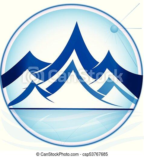 montanhas, logotipo - csp53767685