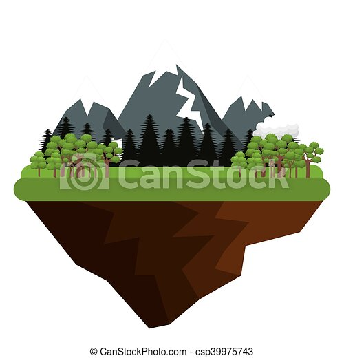 montanhas, natural, paisagem - csp39975743