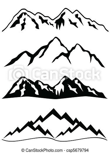 montanhas, neve - csp5679794