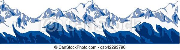 montanhas, ranges., neva-coberto - csp42293790