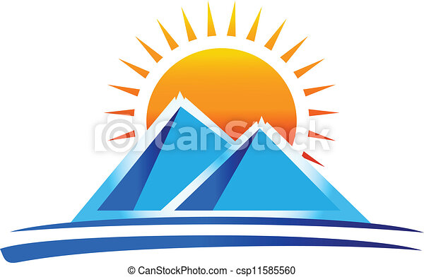 montanhas, vetorial, logotipo - csp11585560