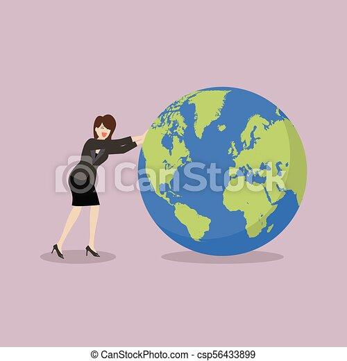montant, mondiale, femme, pousser, business - csp56433899