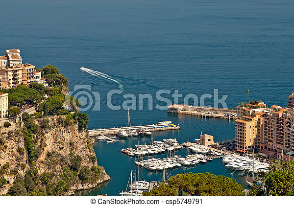 monte, fontvieille, appartements, yachts, carlo, port - csp5749791