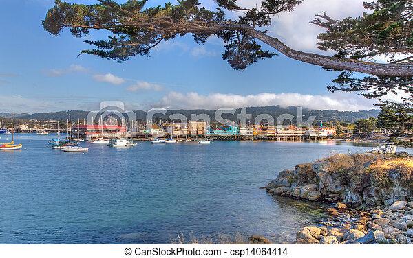 MONTEREY, CA/USA - MAY 16: Historic Monterey Harbor and Marina is in the Monterey Bay National Marine Sanctuary, the largest Marine Sanctuary in the world. May 16, 2013, Monterey, California. - csp14064414