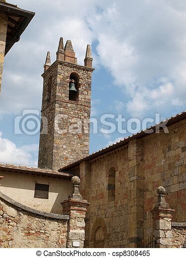 Monteriggioni, medieval village in Tuscany - csp8308465