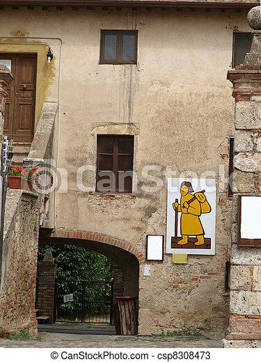 Monteriggioni, medieval village in Tuscany - csp8308473