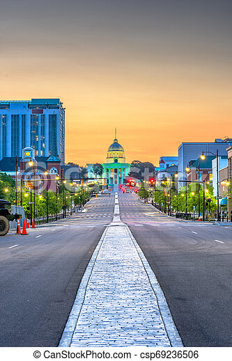 Montgomery, Alabama, USA with the State Capitol - csp69236506