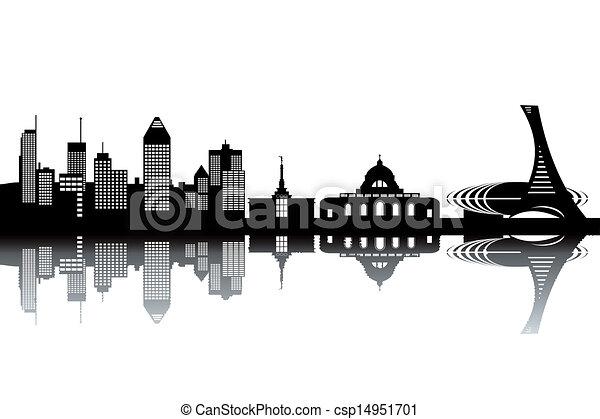Montreal skyline - csp14951701