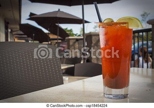 monture, alcoolique, cocktail, restaurant - csp18454224