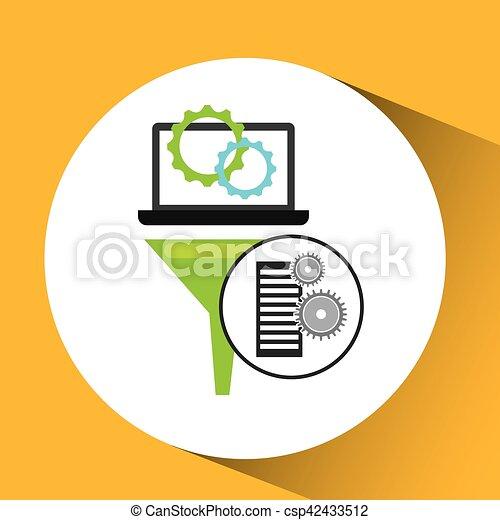 monture, informatique, engrenage, analyse, base données - csp42433512