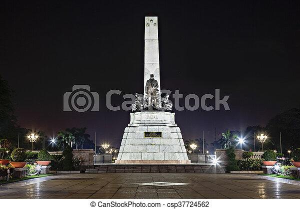 Monument of Jose Rizal - csp37724562