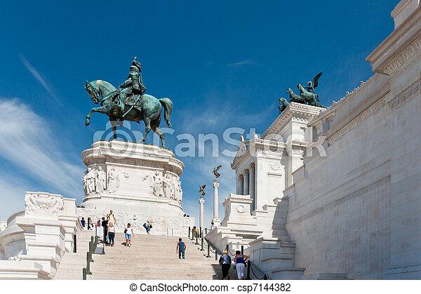Monument of the Vittorio Emanuele II - csp7144382