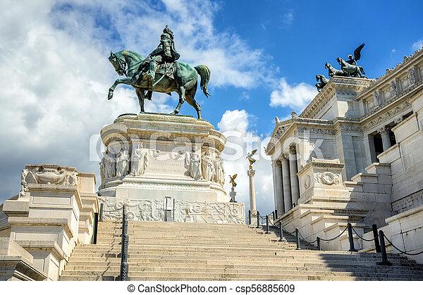 Monument of Vittorio Emanuele II, Rome, Italy - csp56885609