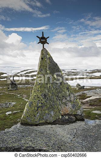 monument on road 55 norway - csp50402666