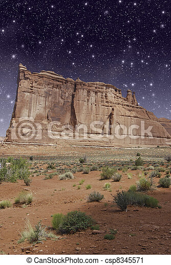 Monument Valley by Night, U.S.A. - csp8345571