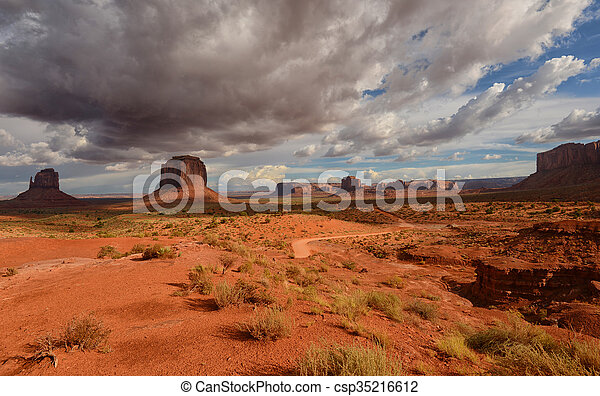 Monument Valley dirt road - csp35216612