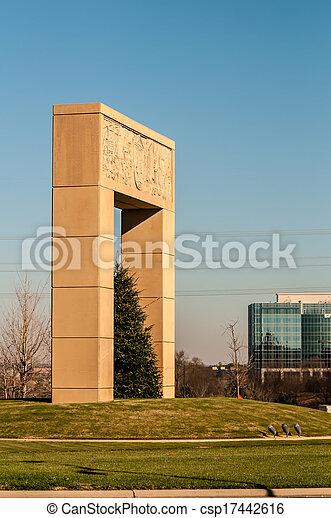 monumental structural landmark statue in ballantyne nc - csp17442616