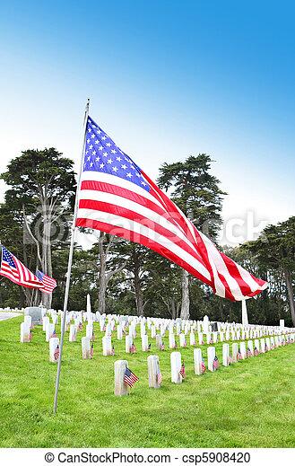 En el cementerio - csp5908420