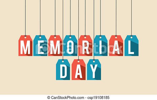 Diseño de un día conmemorativo - csp19108185