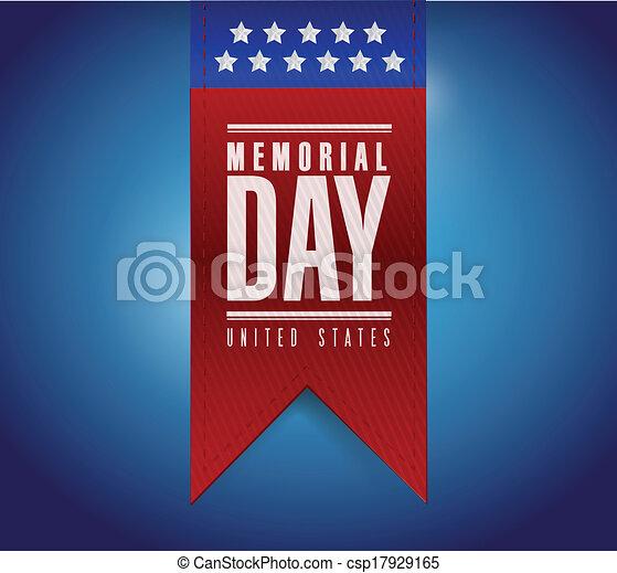 Diseño de ilustración de letreros del día conmemorativo - csp17929165