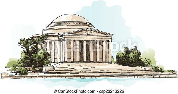 monumento conmemorativo, jefferson - csp23213226