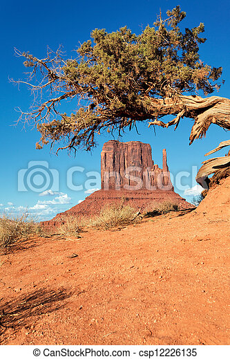 Monument Valley Navajo Park tribal - csp12226135