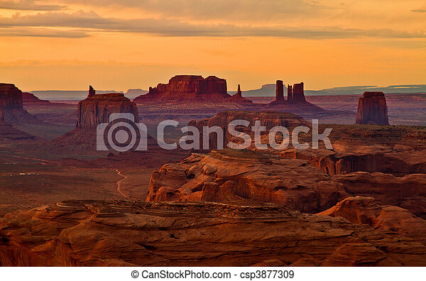 Monuments after sunset - csp3877309