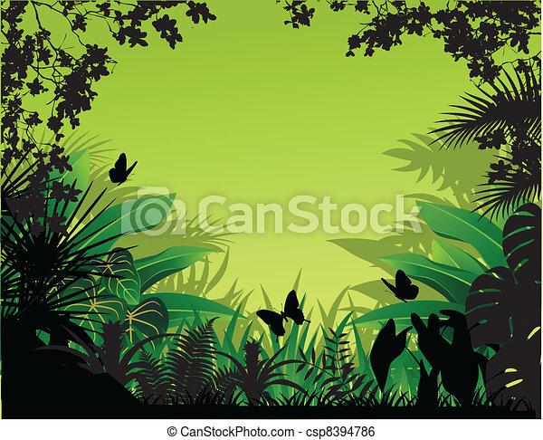 mooi, achtergrond, natuur - csp8394786