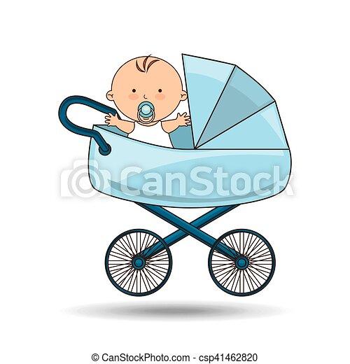 Mooi Blauwe Kinderwagen Ontwerp Baby Mooi Blauwe Tien Eps