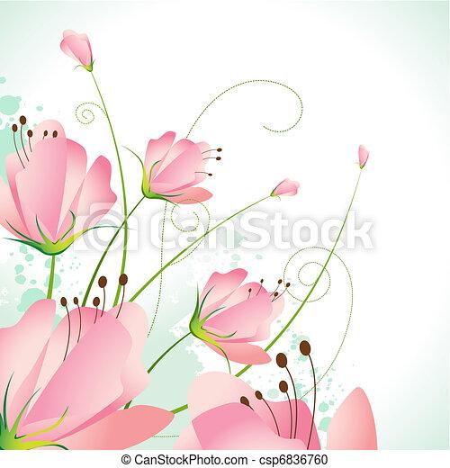 mooi, bloem - csp6836760