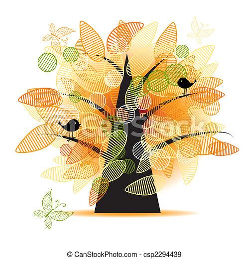 mooi, boompje, ontwerp, kunst, jouw - csp2294439