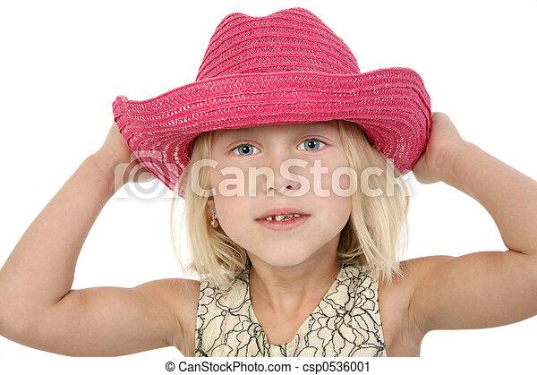 mooi, cowgirl, weinig; niet zo(veel) - csp0536001