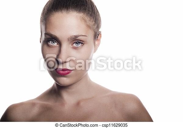 mooi, dichtbegroeid boven, vrouwen - csp11629035