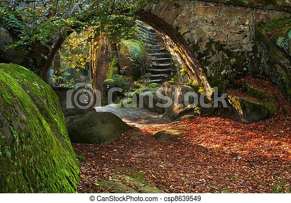 mooi, herfst, scène - csp8639549